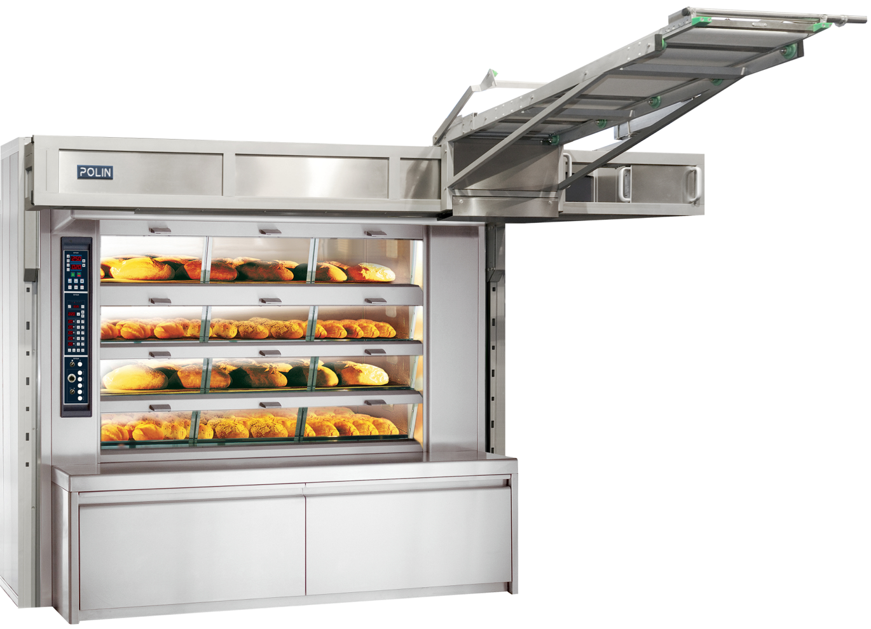 Cargador para horno de pisos con carga lateral sobre mesa